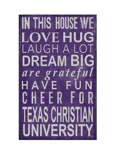 Fan Creations NCAA Texas Christian University Horned Frogs