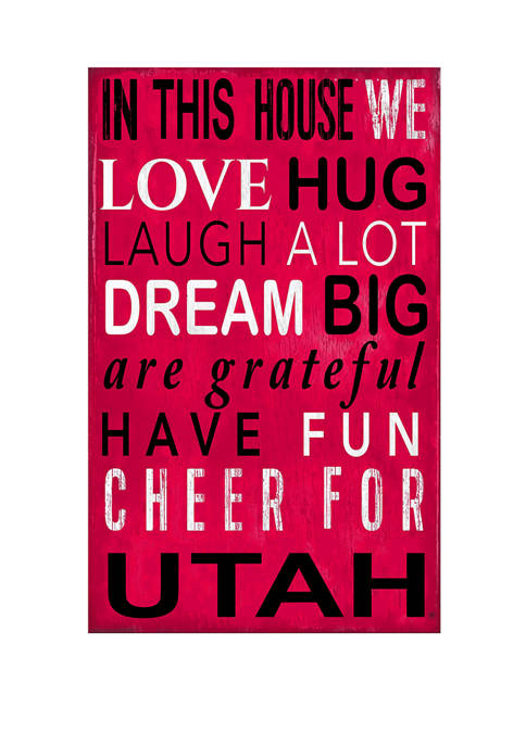 NCAA Utah Utes In This House Sign