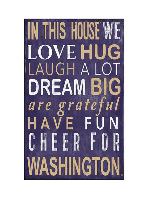 Fan Creations NCAA Washington Huskies In This House