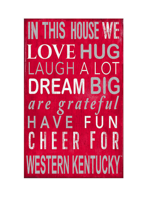 NCAA Western Kentucky Hilltoppers In This House Sign