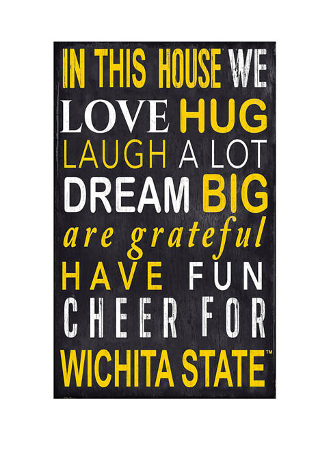 NCAA Wichita State Shockers In This House Sign