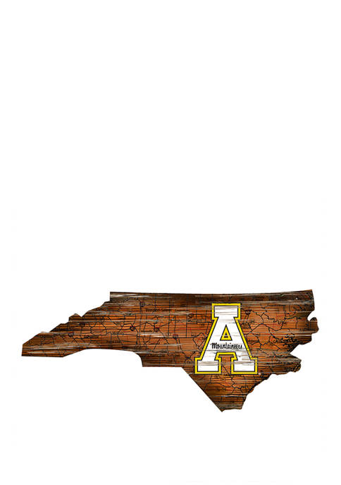 NCAA Appalachian State Mountaineers Distressed State with Logo