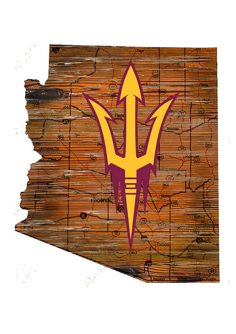 NCAA Arizona State Sun Devils Distressed State with Logo