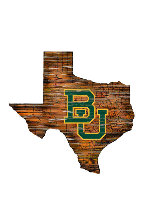 Fan Creations NCAA Baylor Bears Distressed State with