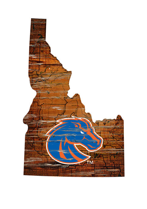 Fan Creations NCAA Boise State Broncos Distressed State