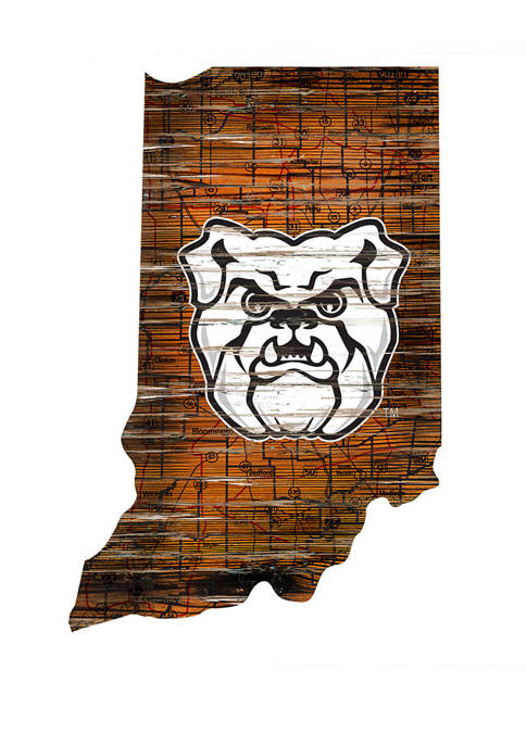 Fan Creations NCAA Butler Bulldogs Distressed State with
