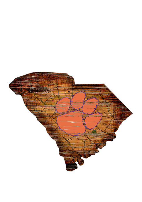 Fan Creations NCAA Clemson University Tigers Distressed State