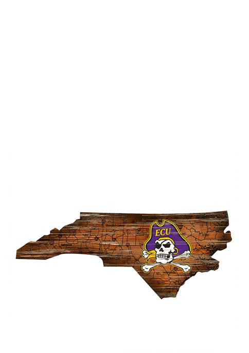 NCAA East Carolina Pirates Distressed State with Logo