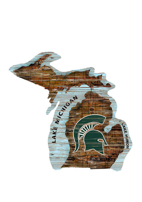 Fan Creations NCAA Michigan State Spartans Distressed State