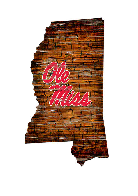 NCAA Ole Miss Rebels Distressed State with Logo