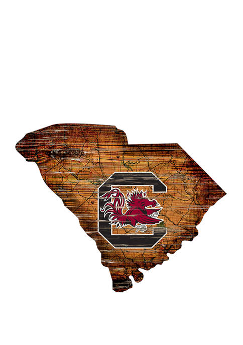 NCAA University of South Carolina Gamecocks Distressed State with Logo