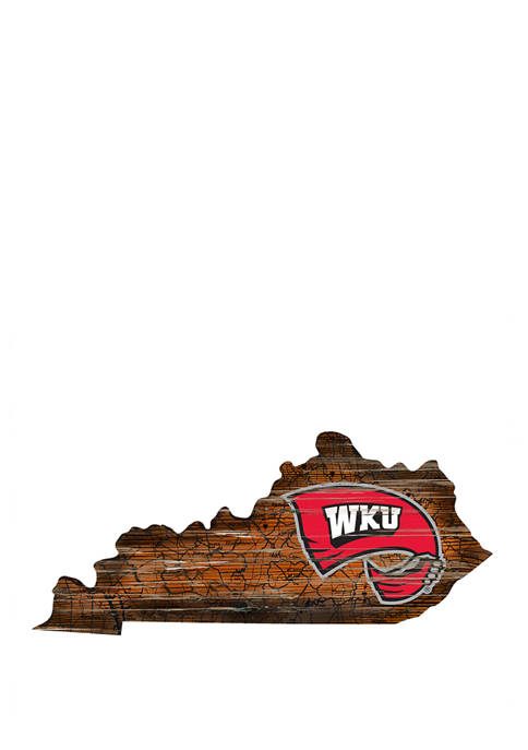 NCAA Western Kentucky Hilltoppers Distressed State with Logo