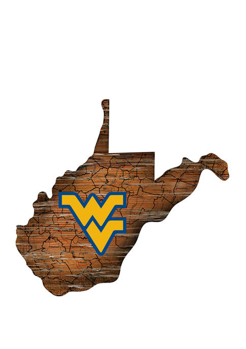 NCAA University of West Virginia Mountaineers Distressed State with Logo