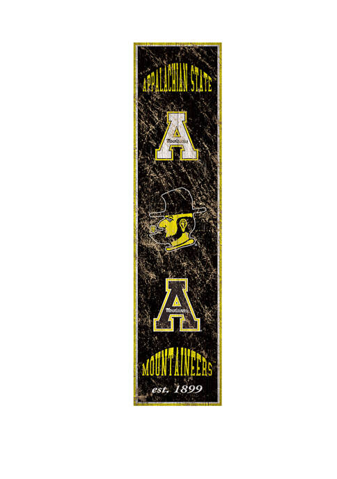 NCAA Appalachian State Mountaineers 6 in x 24 in Vertical Heritage Banner