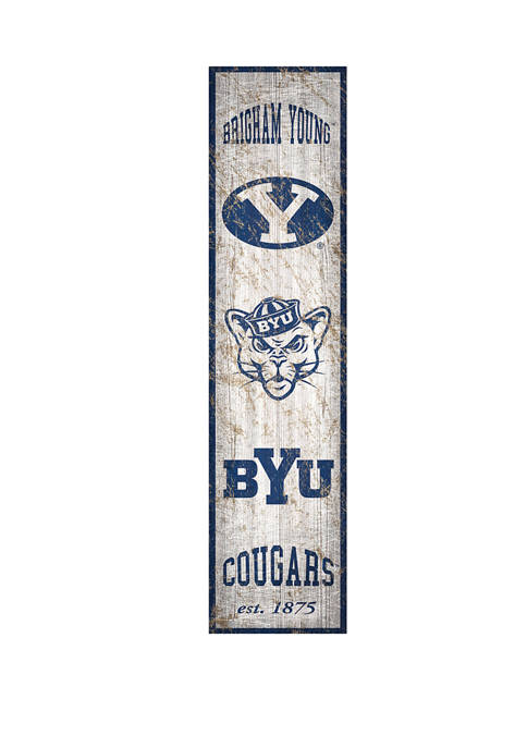 NCAA BYU Cougars Heritage 6 in x 24 in Vertical Banner