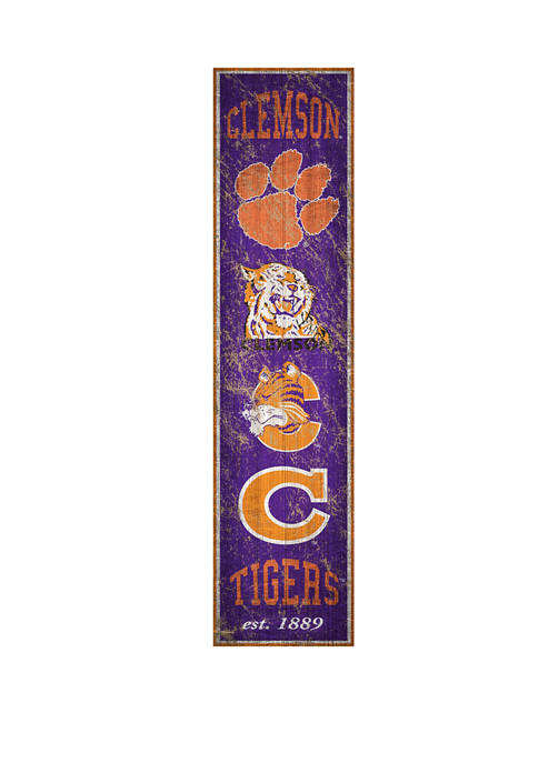 Fan Creations NCAA Clemson Tigers 6 in x