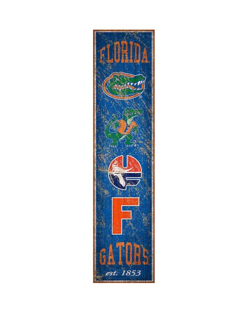NCAA Florida Gators 6 in x 24 in Vertical Heritage Banner