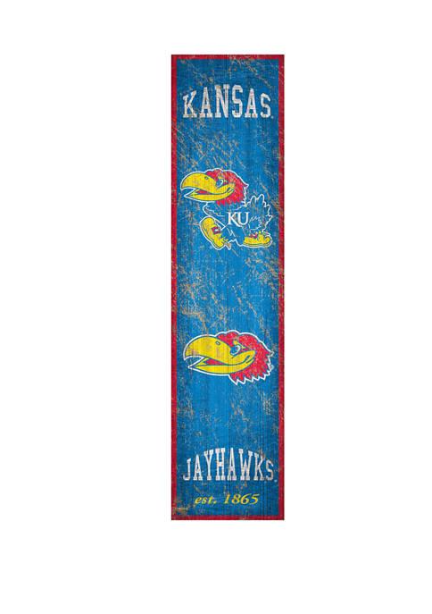 NCAA Kansas Jayhawks Heritage 6 in x 24 in Vertical Banner