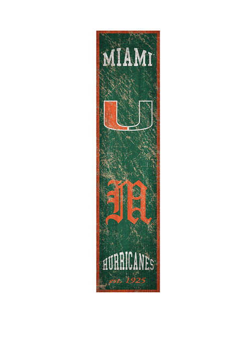 Fan Creations NCAA Miami Hurricanes 6 in x