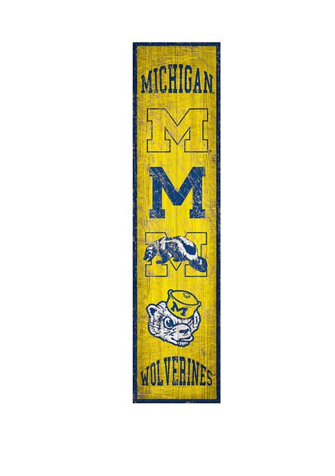 NCAA Michigan Wolverines 6 in x 24 in Vertical Heritage Banner