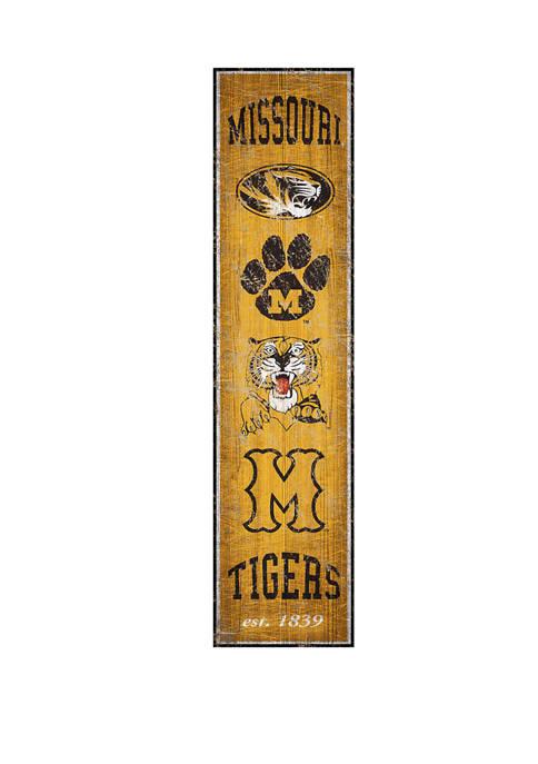 NCAA Missouri Tigers 6 in x 24 in Vertical Heritage Banner
