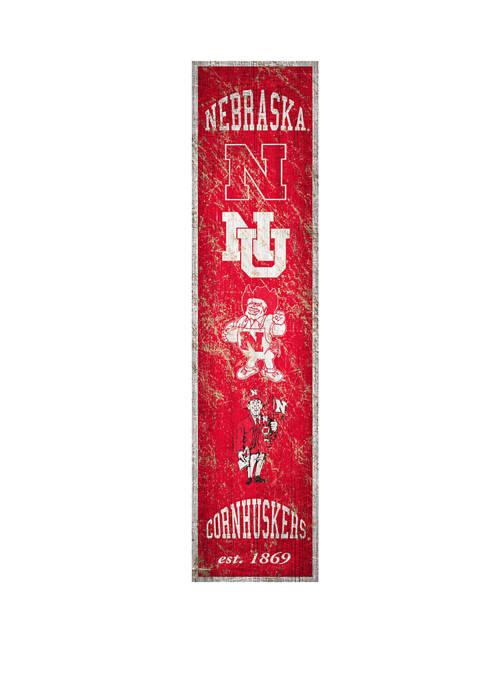 Fan Creations NCAA Nebraska Cornhuskers 6 in x