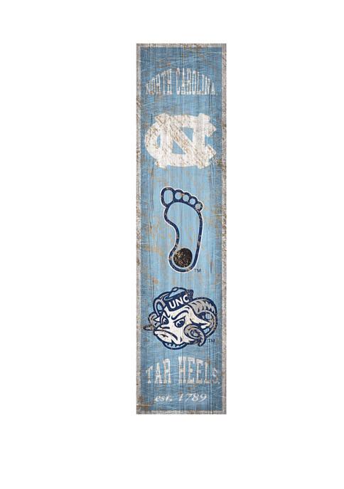 NCAA North Carolina Tar Heels 6 in x 24 in Vertical Heritage Banner