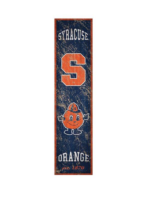 NCAA Syracuse Orange 6 in x 24 in Vertical Heritage Banner
