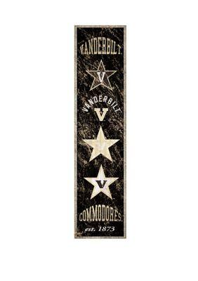 Fan Creations Ncaa Vanderbilt University Commodores 6 In X 24 In Vertical Heritage Banner