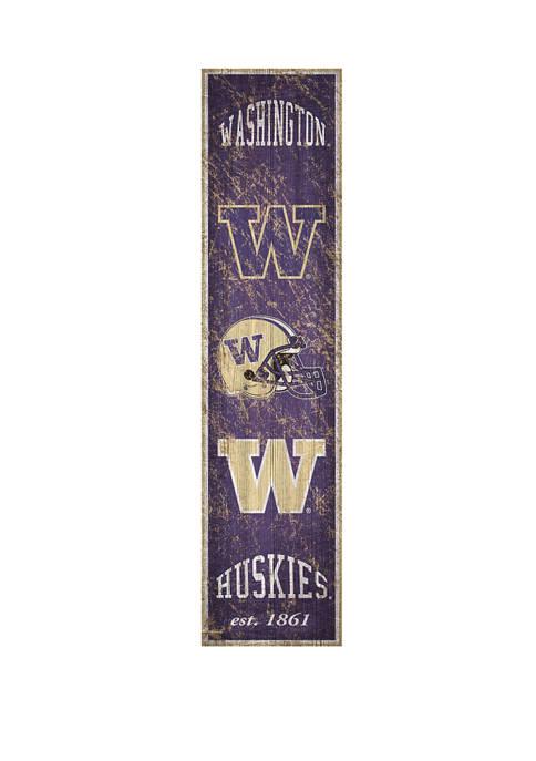 NCAA University of Washington Huskies  6 in x 24 in Vertical Heritage Banner