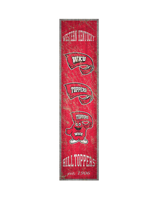 NCAA Western Kentucky University Hilltoppers 6 in x 24 in Vertical Heritage Banner