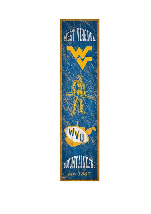 NCAA West Virginia Mountaineers 6 in x 24 in Heritage Vertical Banner