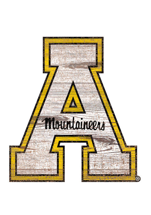NCAA Appalachian State Mountaineers Distressed Logo Cutout Sign
