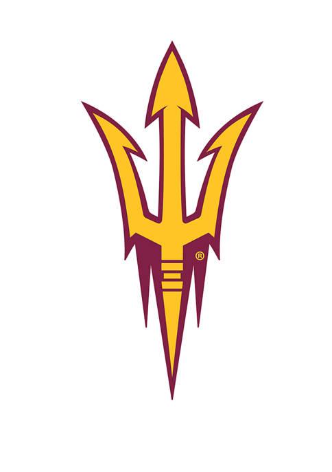 NCAA Arizona State University Distressed Logo Cutout Sign