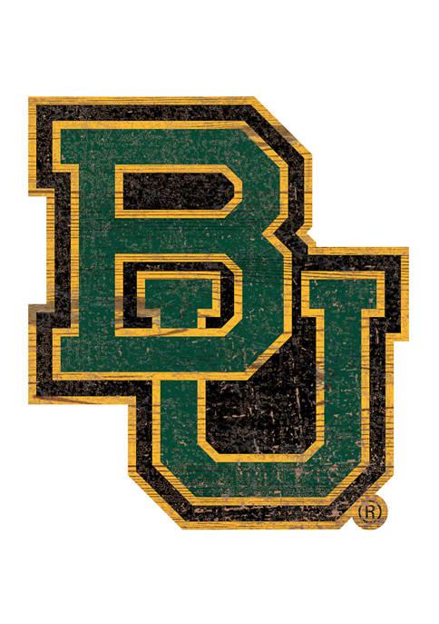 Fan Creations NCAA Baylor Bears Distressed Logo Cutout