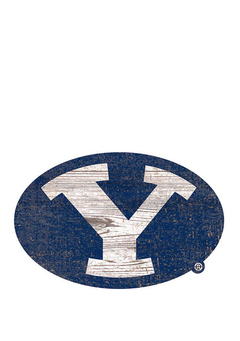 Fan Creations NCAA Brigham Young University Cougars Distressed