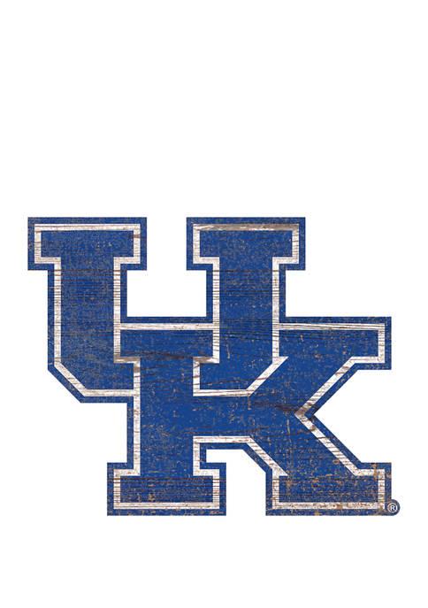 NCAA University of Kentucky Wildcats Distressed Logo Cutout Sign
