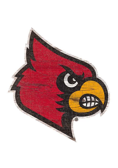 Fan Creations NCAA Louisville Cardinals Distressed Logo Cutout