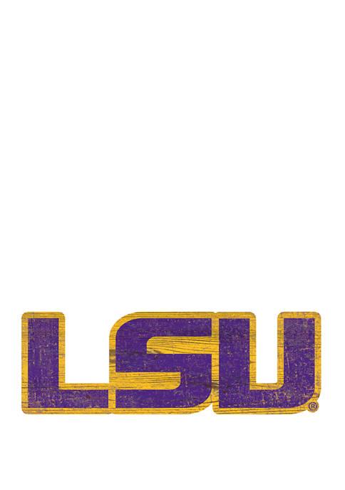 NCAA LSU Tigers Distressed Logo Cutout Sign