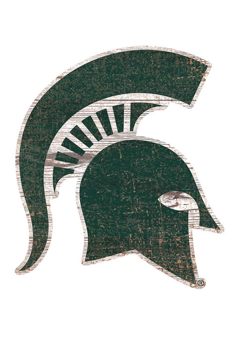 NCAA Michigan State  Spartans Distressed Logo Cutout Sign