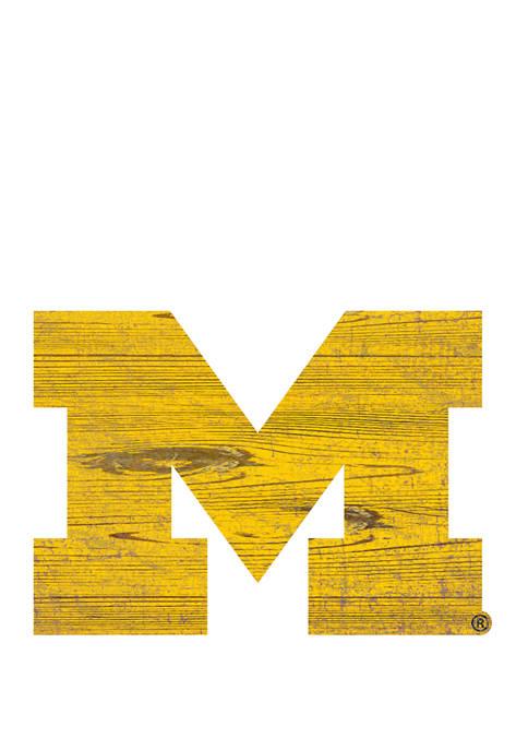 NCAA University of Michigan Wolverines Distressed Logo Cutout Sign