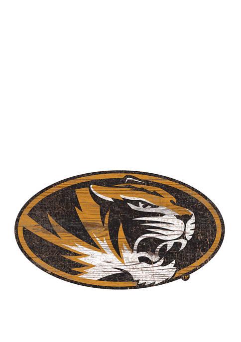 NCAA University of Missouri Tigers Distressed Logo Cutout Sign