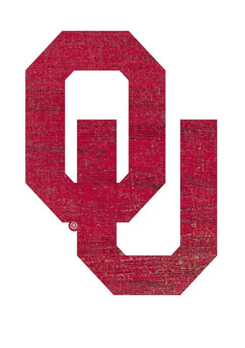 NCAA University of Oklahoma Sooners Distressed Logo Cutout Sign
