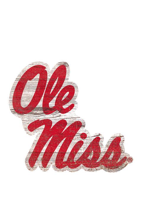 Fan Creations NCAA Ole Miss Rebels Distressed Logo