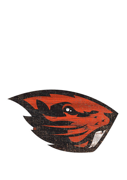 NCAA Oregon State  Beavers Distressed Logo Cutout Sign
