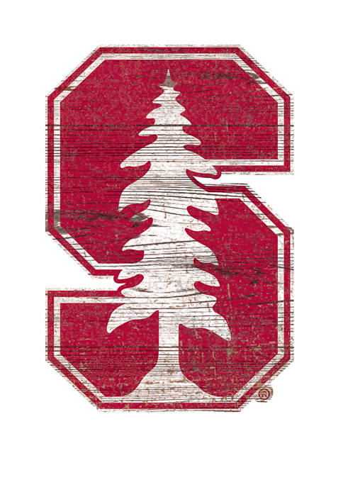 Fan Creations NCAA Stanford Cardinals Distressed Logo Cutout