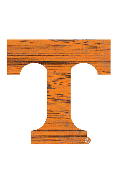 NCAA University of Tennessee Volunteers Distressed Logo Cutout Sign