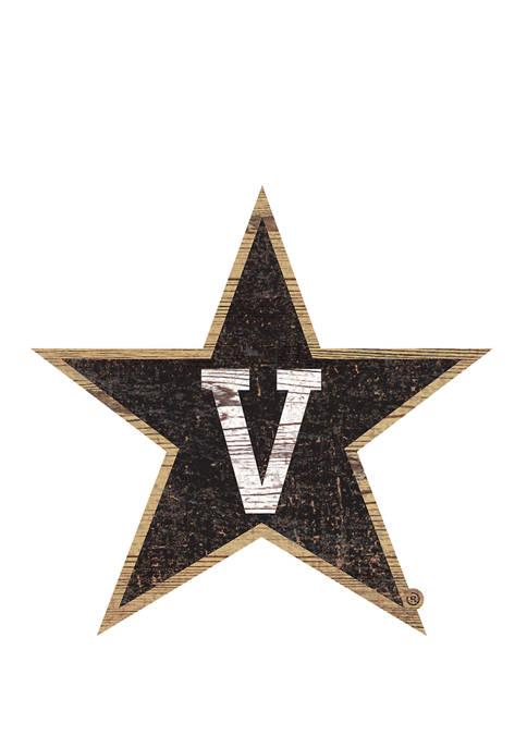 NCAA Vanderbilt University Commodores Distressed Logo Cutout Sign
