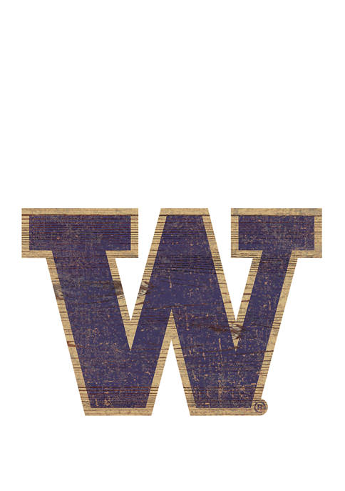NCAA Washington  Huskies Distressed  Logo Cutout Sign