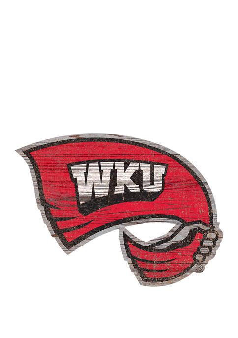NCAA Western Kentucky  Hillstoppers Distressed Logo Cutout Sign